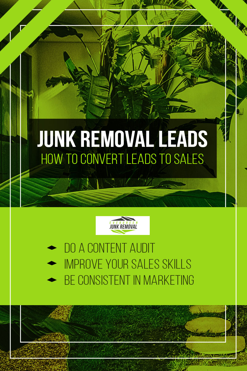 How to convert sales for junk removal business