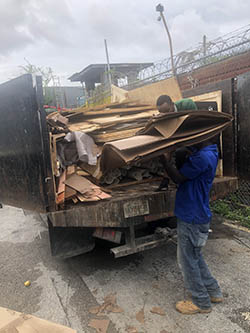 Fontainebleau Cardboard disposal