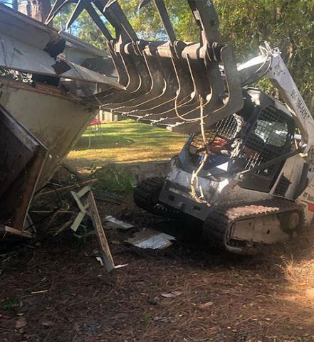 Franklin Park shed removal