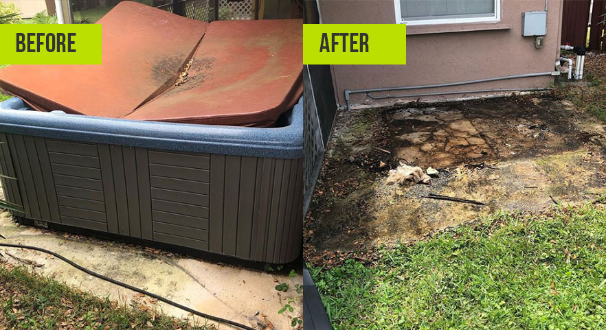 Before and After Junk Removal Tarpon Springs